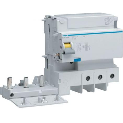 Blok różnicowoprądowy krótkozwłoczny do MCB serii HM 2P+N 125A 30mA A-HI BDH380E Hager