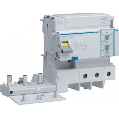 Blok różnicowoprądowy krótkozwłoczny do MCB HM 2P+N 125A 0,3-1A A-HI BTH380E Hager