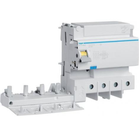 Blok różnicowoprądowy krótkozwłoczny do MCB HM 3P+N 125A 300mA A-HI BFH480E Hager
