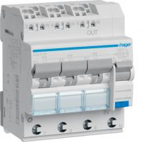RCBO Wyłącznik różnicowoprądowy 3x1P+N 6kA B 10A/30mA Typ A QC/QBB