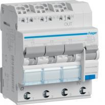 RCBO Wyłącznik różnicowoprądowy 3x1P+N 6kA B 13A/30mA Typ A QC/QBB