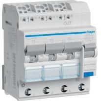 RCBO Wyłącznik różnicowoprądowy 3x1+N 6kA C 10A/30mA Typ A QC/QBB