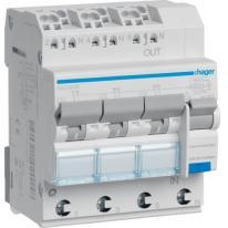 RCBO Wyłącznik różnicowoprądowy 3x1P+N 6kA C 13A/30mA Typ A QC/QBB