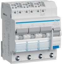 RCBO Wyłącznik różnicowoprądowy 3x1P+N 6kA C 16A/30mA Typ A QC/QBB