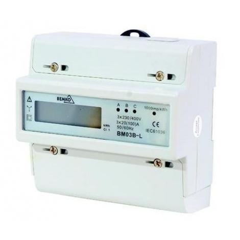 Licznik energii elektrycznej 3-fazowy Bemko BM03B-L Bemko