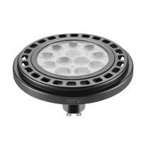 Żarówka LED ES111 GU10 12W WW 45st. ciepła GTV czarny 65mm GTV