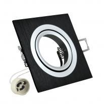 Oprawa kwadratowa aluminium SOUTH OPAL czarna szczotkowana - 302090 Polux