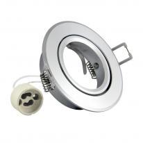 Oprawa okrągła aluminium EAST OPAL srebrna połysk - 301543 Polux