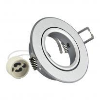 Oprawa okrągła aluminium EAST OPAL srebrna piaskowana - 301567 Polux