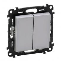 Legrand Valena Life aluminium - przycisk podwójny przełączny zwierny Legrand