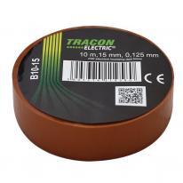 Taśma izolacyjna 10mx15mm brązowy Tracon Electric