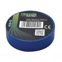 Taśma izolacyjna 10mx15mm niebieska Tracon Electric