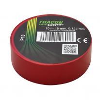 Taśma izolacyjna 10mx15mm czerwona Tracon Electric
