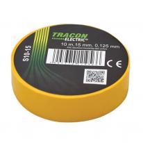Taśma izolacyjna 10mx15mm żółta Tracon Electric