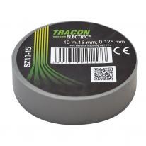 Taśma izolacyjna 10mx15mm szary Tracon Electric