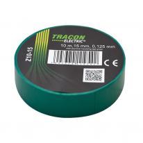 Taśma izolacyjna 10mx15mm zielony Tracon Electric
