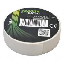Taśma izolacyjna 20mx18mm biała Tracon Electric