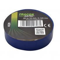 Taśma izolacyjna 20mx18mm niebieski Tracon Electric