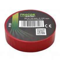 Taśma izolacyjna 20mx18mm czerwony Tracon Electric