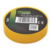 Taśma izolacyjna 20mx18mm żółty Tracon Electric