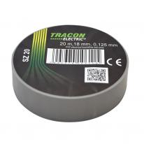 Taśma izolacyjna 20mx18mm szary Tracon Electric