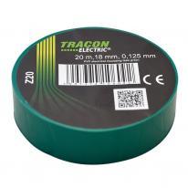 Taśma izolacyjna 20mx18mm zielony Tracon Electric