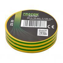 Taśma izolacyjna 20mx18mm żółto-zielony Tracon Electric