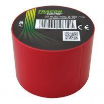 Taśma izolacyjna 20mx50mm czerwony Tracon Electric