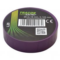 Taśma izolacyjna 20mx18mm fiolet Tracon Electric