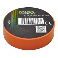 Taśma izolacyjna 20mx18mm pomarańcz Tracon Electric