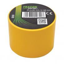 Taśma izolacyjna 20mx50mm żółty Tracon Electric