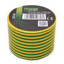 Taśma izolacyjna 20mx50mm żołto-zielone Tracon Electric