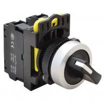 Przełącznik pokrętny z samoczynnym powrotem NYK3-S24BK dwustanowy 1-2 Tracon Electric