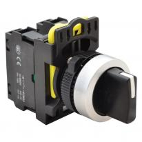 Przełącznik pokrętny z samoczynnym powrotem NYK3-S32BK trzystanowy 1-0-2 Tracon Electric