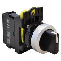 Przełącznik pokrętny z samoczynnym powrotem NYK3-S33BK trzystanowy 1-0-2 Tracon Electric