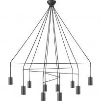 Lampa wisząca 10 pł. - IMBRIA BLACK 9680 Nowodvorski