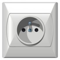 Ospel Akcent biały - gniazdo pojedyncze (+0) GP-1AZ/00 Ospel