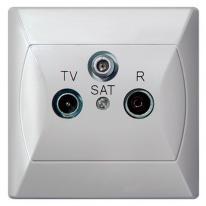 Ospel Akcent biały - gniazdo antenowe końcowe GPA-AS/00