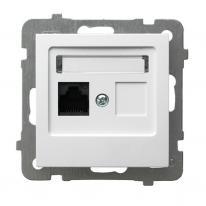 Ospel AS biały - gniazdo komputerowe kat.5e GPK-1G/K/m/00 Ospel