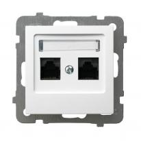 Ospel AS biały - gniazdo komputerowe kat.5e GPK-2G/K/m/00 Ospel