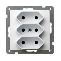 Ospel AS biały - gniazdo potrójne GP-3G/m/00 Ospel