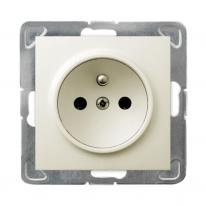 Hurtownia elektryczna Ospel Impresja ecru - gniazdo pojedyncze (+0) GP-1YZ/m/27