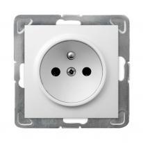 Hurtownia elektryczna Ospel Impresja biały - gniazdo pojedyncze (+0) GP-1YZ/m/00