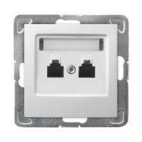 Ospel Impresja biały - gniazdo telefoniczne GPT-2Y/m/00 Ospel