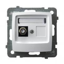 Ospel Karo biały - gniazdo antenowe typu F GPA-1SF/m/00 Ospel