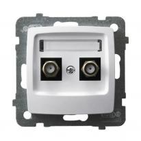 Ospel Karo biały - gniazdo antenowe typu F x2 GPA-2SF/m/00 Ospel