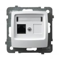 Ospel Karo biały - gniazdo komputerowe kat.5e GPK-1S/K/m/00 Ospel