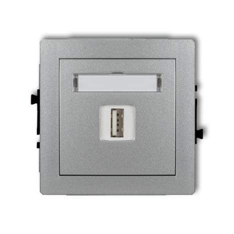 Deco (srebrny metalik) - gniazdo pojedyncze USB-A A