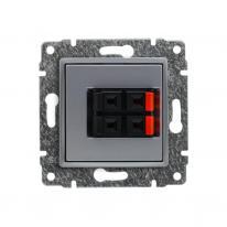 Kos Vena aluminium - gniazdo głośnikowe podwójne Kos Elektro System