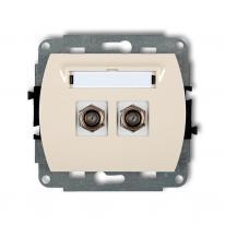 Karlik Trend beżowy - gniazdo antenowe typu F (2xSAT) - 1GF-2 Karlik